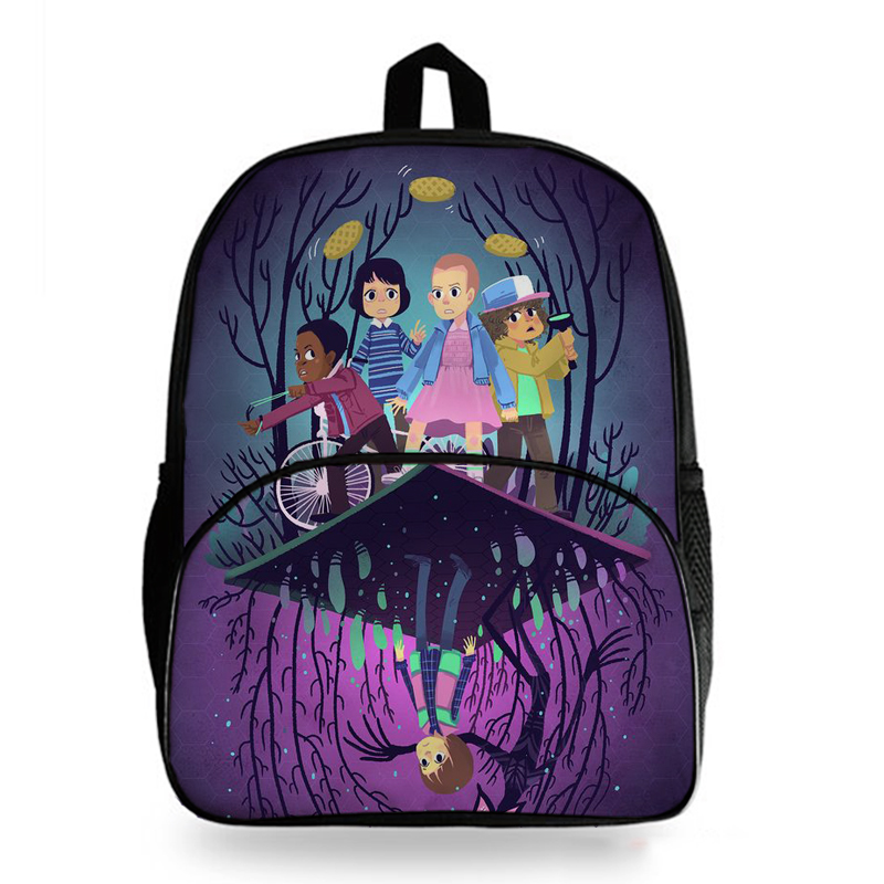 New Stranger Things Print School Bags Students Boys Girls School Rucksack Fashion Backpack Travel Backpack Hiking Backpack in Backpacks from Luggage Bags