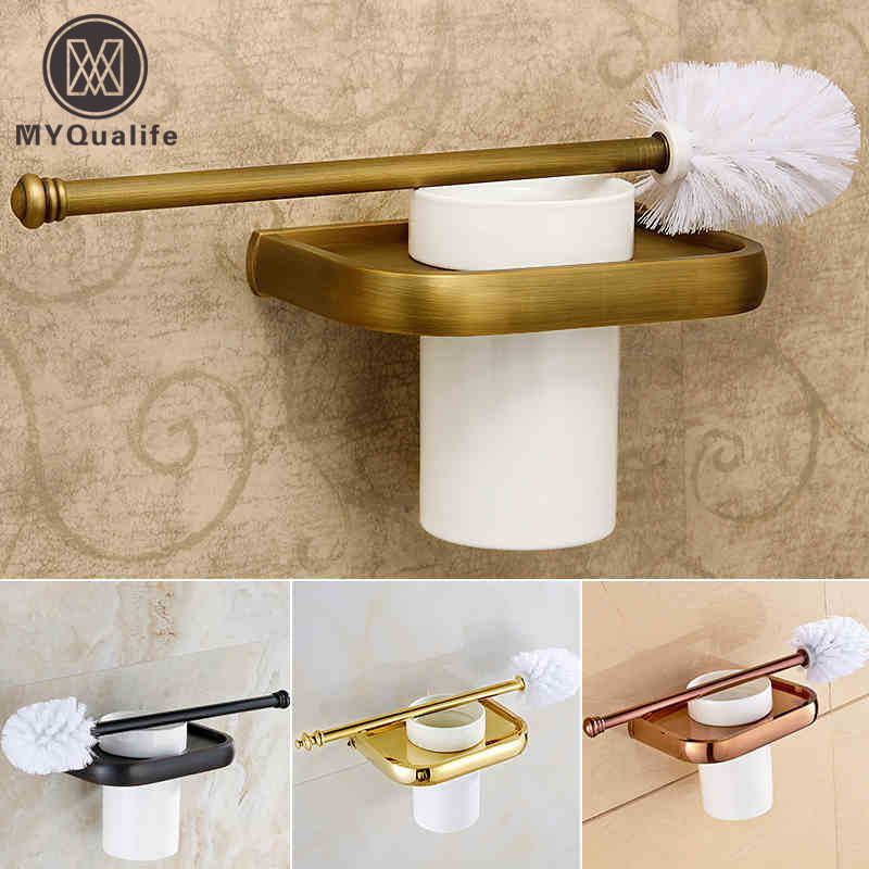 Luxury Multi-color Toilet Brush Holder with Ceramic cup/ Household Decoration Bathroom Cup Holder рюкзак тележка samsonite рюкзак тележка rewind 39x55x24 см