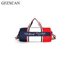 Fashion high quality travel bag large capacity travel handbag dry and wet separation letter hit color unisex fitness bag tuban sports dry and wet separation travel handbag