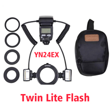 Ulanzi YN Macro twin Lite flash YN-24EX Вспышка Speedlite для Canon съемки крупным планом/макросъемки, подобный Canon MT-24EX