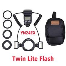 YONGNUO Macro Twin Lite Flash YN-24EX Flash Speedlite pour Canon Close-up Photographie/Macro tir, similaire à Canon MT-24EX