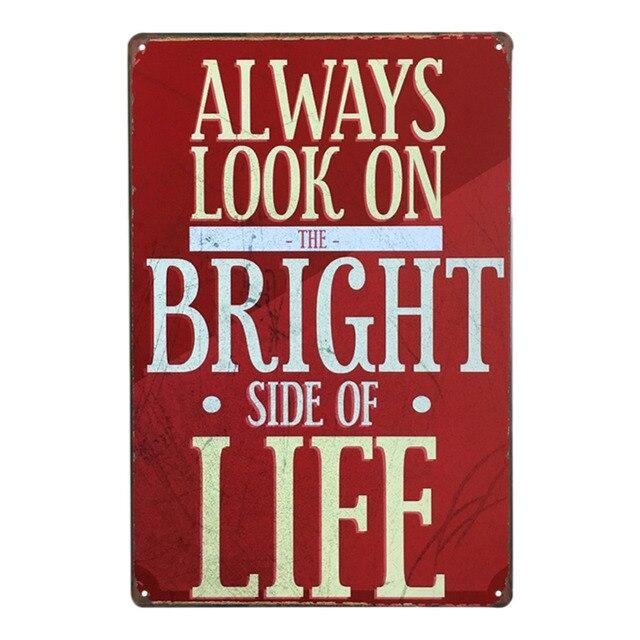 Aliexpress Buy Inspirational Slogan Retro Style Iron Sign Inspiration Decorative Inspirational Signs