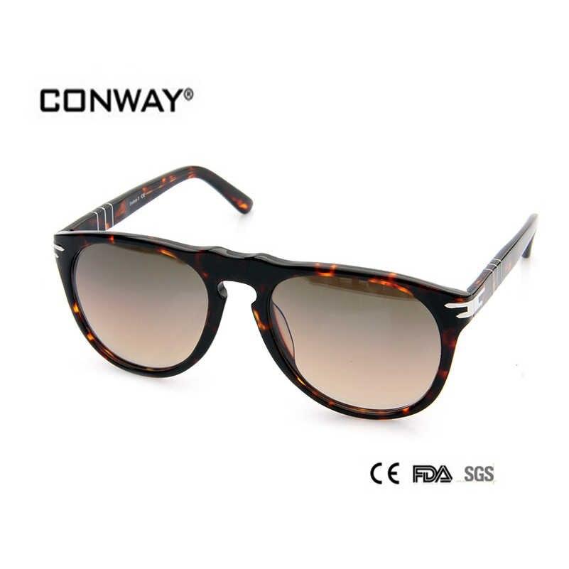 5431bb7d7 CONWAY 2017 Fashion Acetate Sunglasses Men big size Design Top Quality  Goggle Sunglasses women CN0002S-