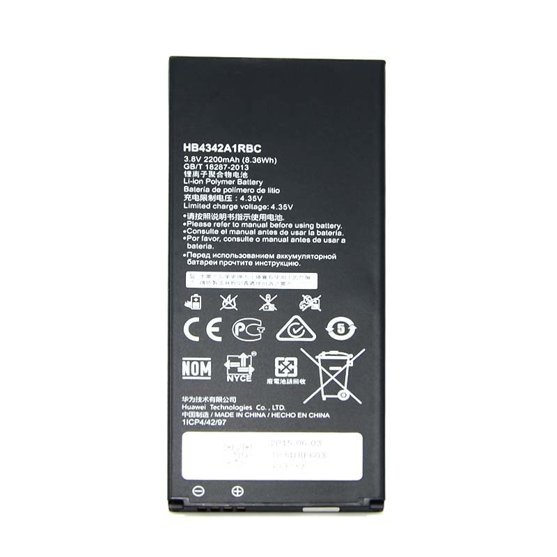 New Phone Battery 2200mAh HB4342A1RBC For Huawei Honor 4A SCL-TL00 SCL-ALOO free shipping