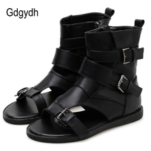 Gdgydh Sexy Buckle Women Vintage Gladiator Sandals Lady Beach Shoes Le