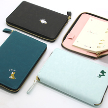 Fromthenon Embroidery Zipper Spiral Notebook And Journal Diary Schedule Book Pu Leather Cover Planner Office And School Supplies