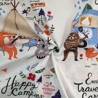 1 Meter Cartoon Fox Picnic 100 Cotton Twill Kids Tent Curtains Handmade Tilda Chic DIY For