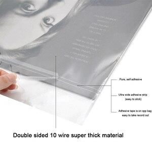 "Image 2 - 12 ""32.3 cm * 32cm 50PCS מול ג ל הקלטת מגן שרוול עצמי דבק תיק מגן תיק עבור CD פטיפון Lp ויניל רשומות"