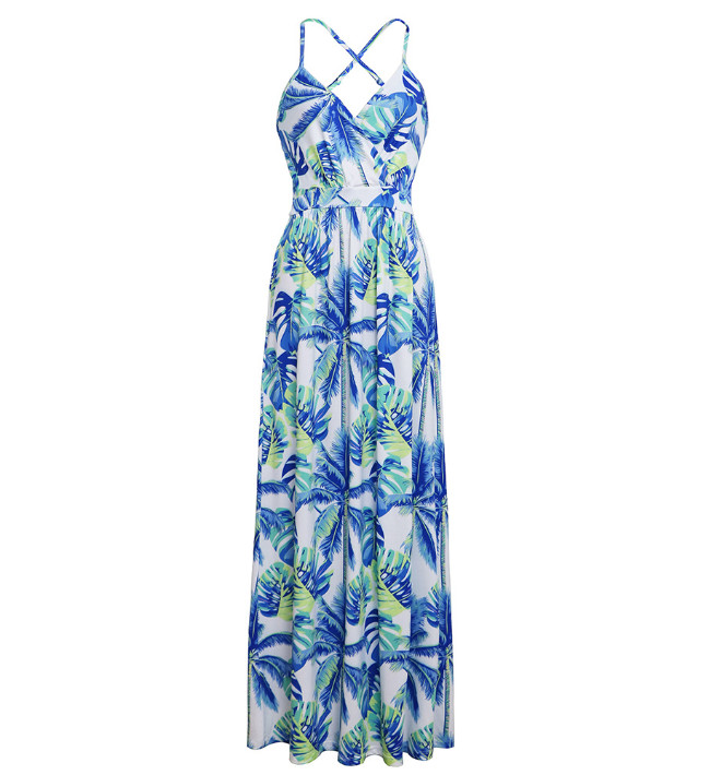 Womens Bohemian Dress Floral Printed Wrap V Neck Boho Sexy off shoulder Long Beach Party Maxi Dress ouc418 in Dresses from Women 39 s Clothing