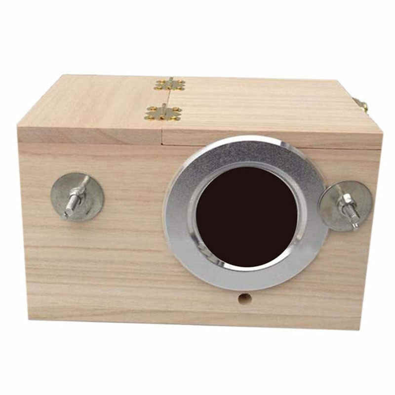 Bird Breeding Box Solid Wooden Nest Box Nesting Boxes 4 Sizes Pratical For Small Birds Budgies Finches