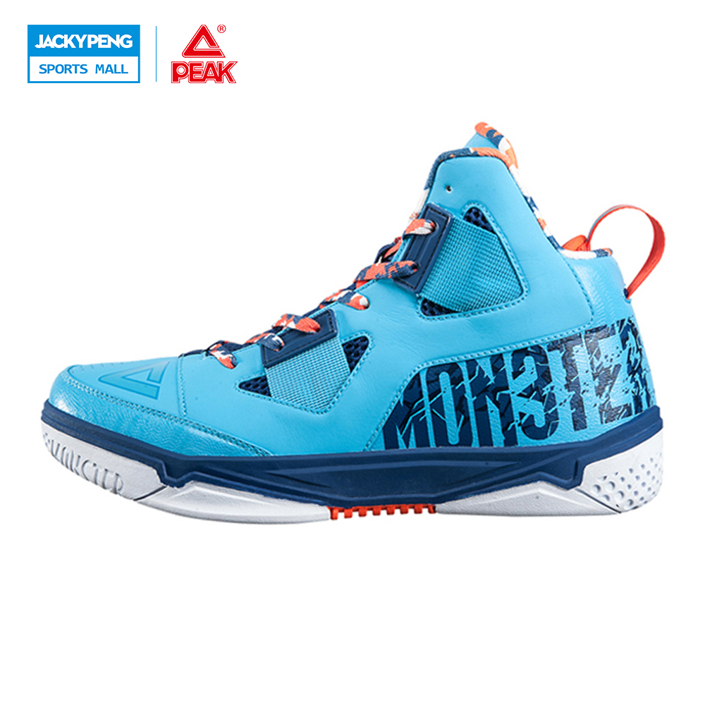 PEAK SPORT Monster Concept Models Men Basketball Shoes Durable Rubber Outsole Sneakers FOOTHOLD Tech Athletic Training Boots peak sport star series george hill gh3 men basketball shoes athletic cushion 3 non marking tech sneakers eur 40 50