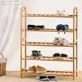 Ручной бамбука дверь стойку чистка восстановленный обуви полка экологичный обуви держатель DIY обуви хранения стенд Sapateira Estanteria Zapatero