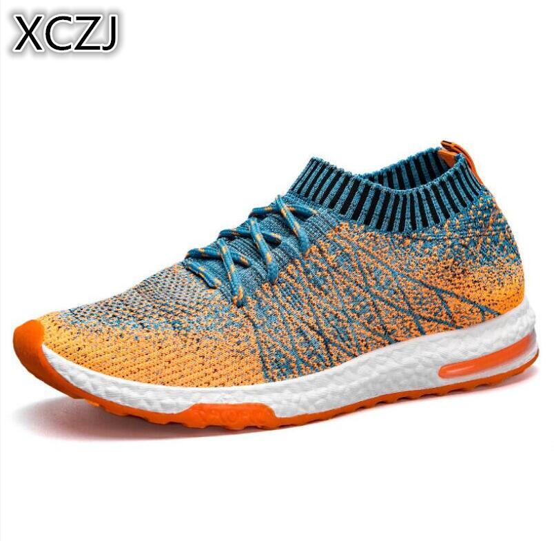 2018 nuevo de malla transpirable de verano Zapatos casuales de los hombres Slip On hombre calzado de moda Slipon a Unisex parejas zapatos para Hombre Zapatos de colores