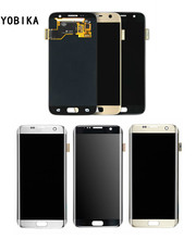 YOBIKA Para Samsung S7/S7 borde G9300 G9350 G930 G935 directa frente pantalla LCD asamblea de pantalla
