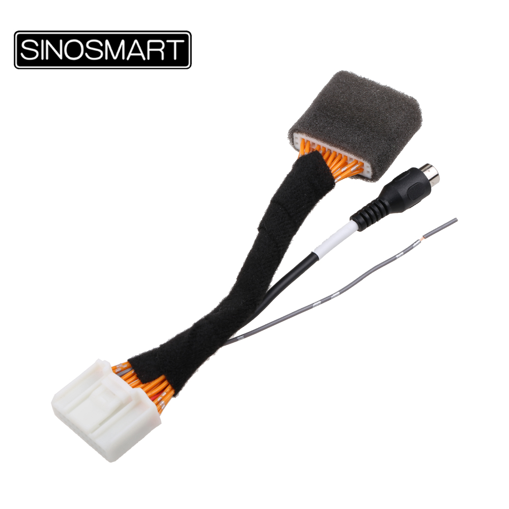 SINOSMART C24 Connection Cable for Renault C24 Reversing Camera to OEM monitor without Damaging the car Wiring|camera for renault|reversing camera cable|connect reverse camera - title=