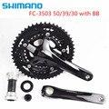 Shimano Сора 3503 тройной диаметра окружности болтов велосипед 3x9 Скорость диаметра окружности болтов (50/39/30 зубов с BB