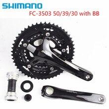 Shimano sora 3503 트리플 크랭크 셋 자전거 자전거 3x9 속도 크랭크 셋 50/39/30 치아 bb