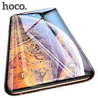 HOCO 3D protectora de vidrio para iPhone 7 8 plus X XR Xs iPhone 11 Pro Max Protector de pantalla completa funda de vidrio para iPhone xs max