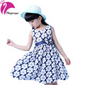New Pastorale Style 2016 Baby Girls Dress Summer Floral Cotton Sleeveless Flower Kids Princess Dresses Children's Girl Clothing