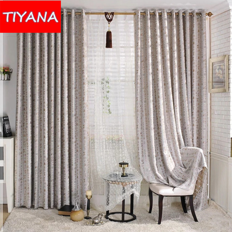 French Style Window Treatments Part - 38: Chinese Calligraphy Style Window Curtains For Study Room Blinds Curtains  For Living Room Bedroom Custom Made Cortinas AG152u002620