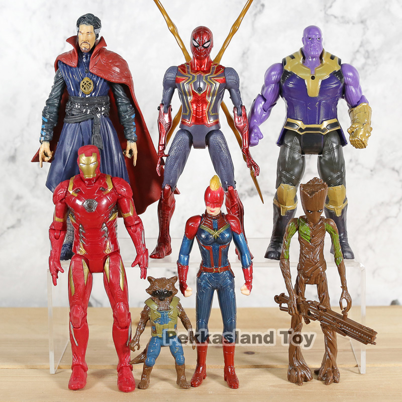 captain-font-b-marvel-b-font-spiderman-doctor-strange-captain-america-model-collection-toys-children-jouet-gift-7pcs-set