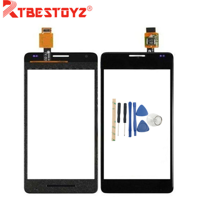 New Original Touch glass Panel For <font><b>Sony</b></font> <font><b>Xperia</b></font> <font><b>E1</b></font> D2004 <font><b>D2005</b></font> Touch Screen Digitizer with logo free shipping+tools image