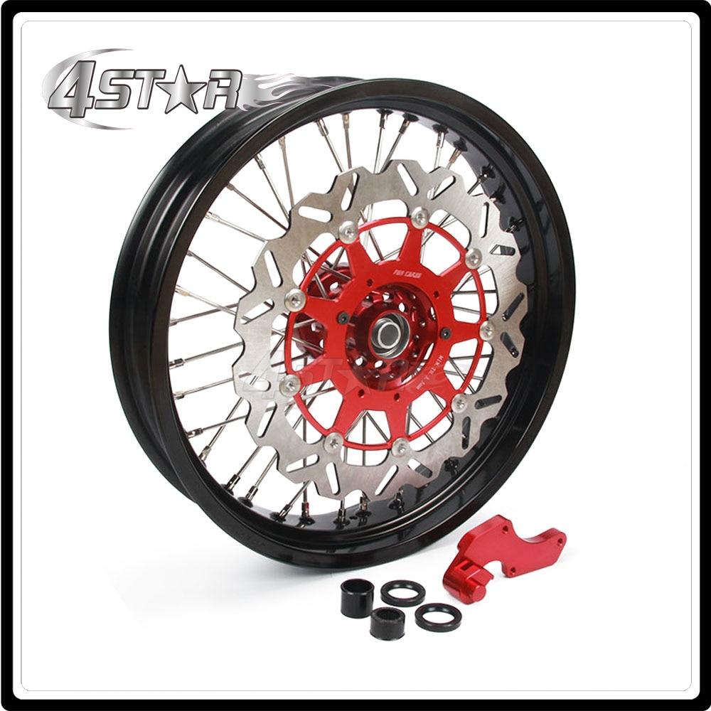 Мотоцикл передний обод колеса ступицы Комплект для Honda CR125R CR250R CPF250R CRF450R CRF250X CRF450X