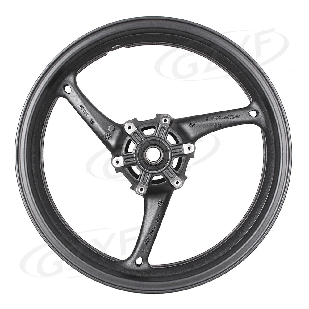 Motorcycle <font><b>Front</b></font> <font><b>Wheel</b></font> Rim For <font><b>Suzuki</b></font> <font><b>GSXR</b></font> <font><b>600</b></font>/750 2008 2009 2010 & <font><b>GSXR</b></font> 1000 2009-2016 Matte Black Alloy image