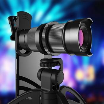 Apexel Mobile Phone Camera lens Optical 4-12X Zoom Telephoto Telescope Lens+Mini selfie Tripod for Samsung Huawei more phones