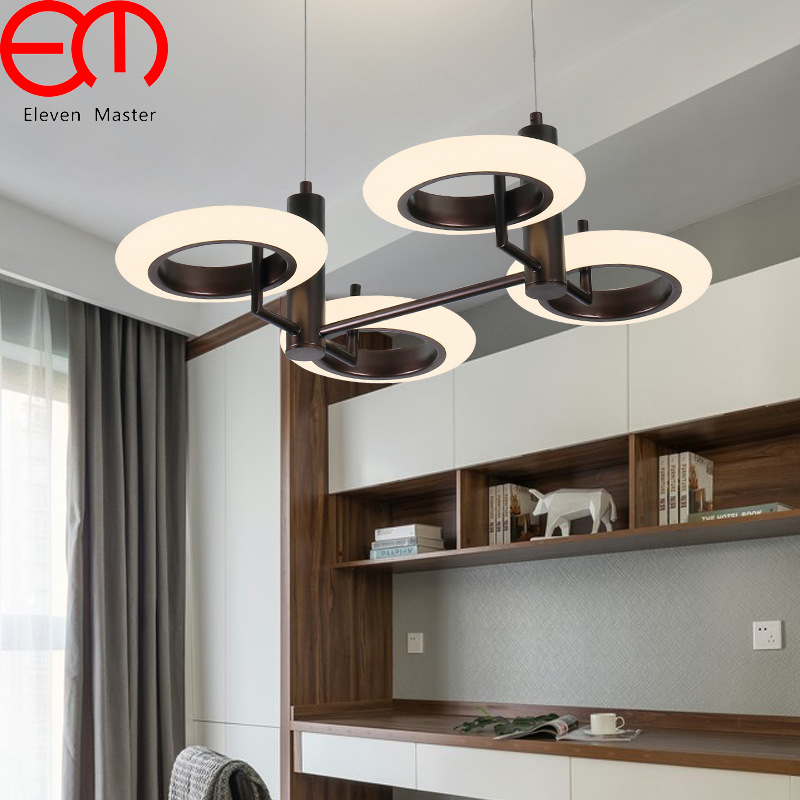 Creative modern led pendant lamp whitebrown neutral light circle creative modern led pendant lamp whitebrown neutral light circle pendant lights acrylic living room dining aloadofball Choice Image