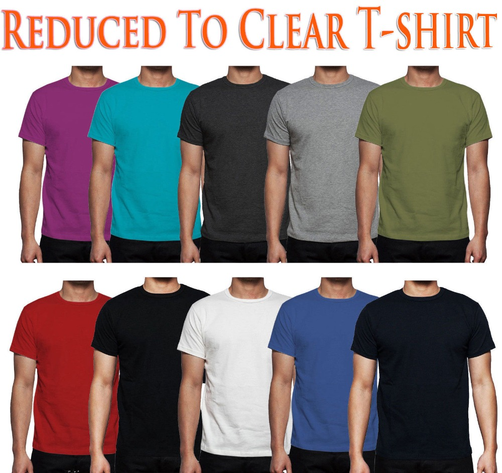 2,4,6,8,10 lot Multi Pack Plain Basic Cotton   T     shirt   Men casual tee USA Size S-3XL