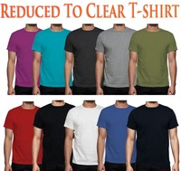 2,4,6,8,10 lot Multi Pack Plain Basic Cotton T shirt Men casual tee USA Size S 3XL