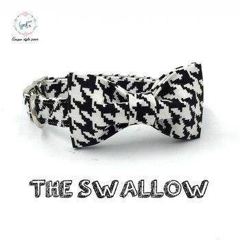 Белый и черный ласточка девчачий ошейник для собаки персональный питомец щенок дизайнерский продукт собака и ожерелье с кошкой ювелирные и... >> Unique style paws Official Store