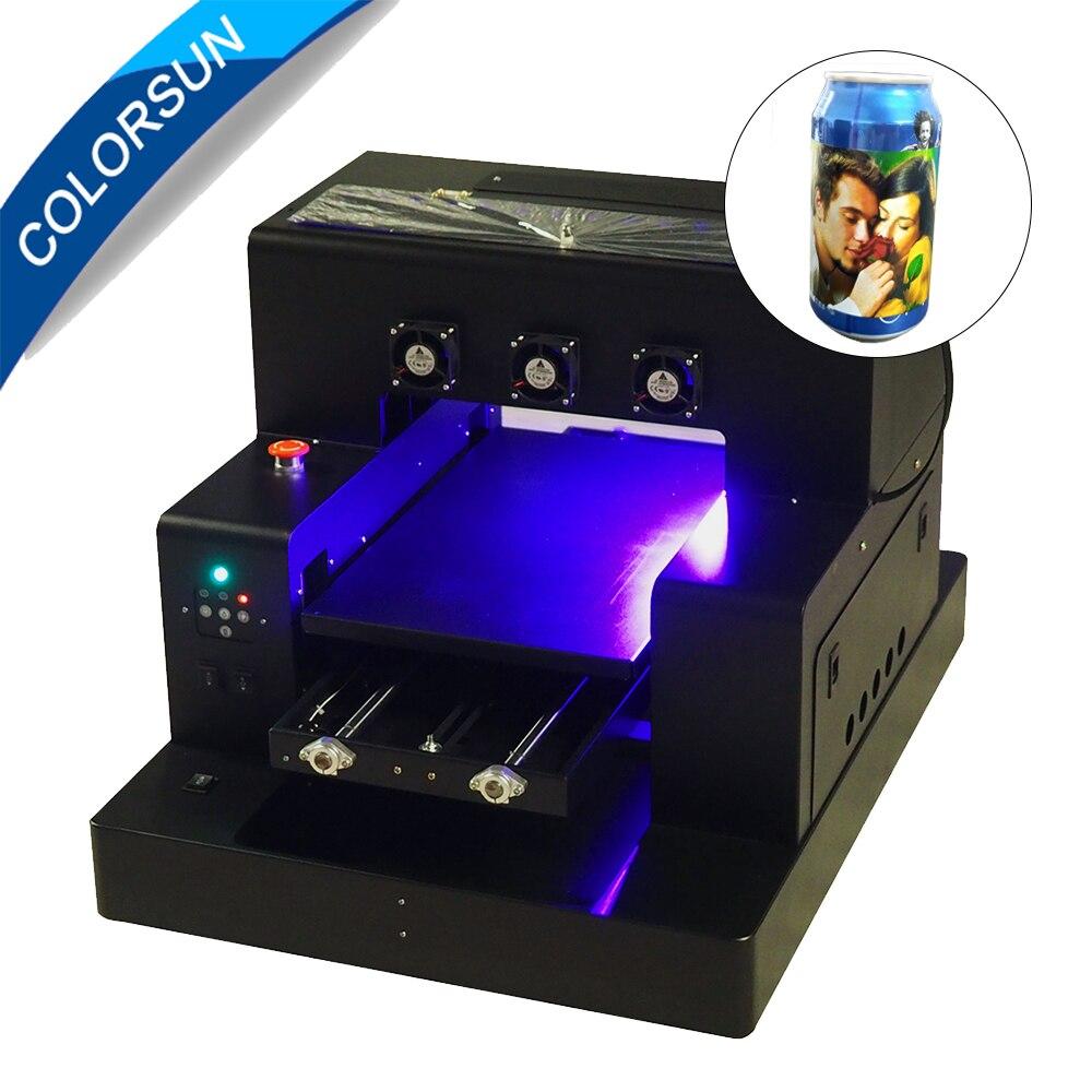 Colorsun Automatique A3 A2850UV À Plat Imprimante imprimer blanc couleurs en même temps avec porte-bouteille pour Téléphone cas imprimante Cylindre