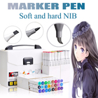 KNOW Drawing Supplies Alcohol Double Used Sketch Marker Set Manga For School Drawing Chisel and Brush pen Marcadores