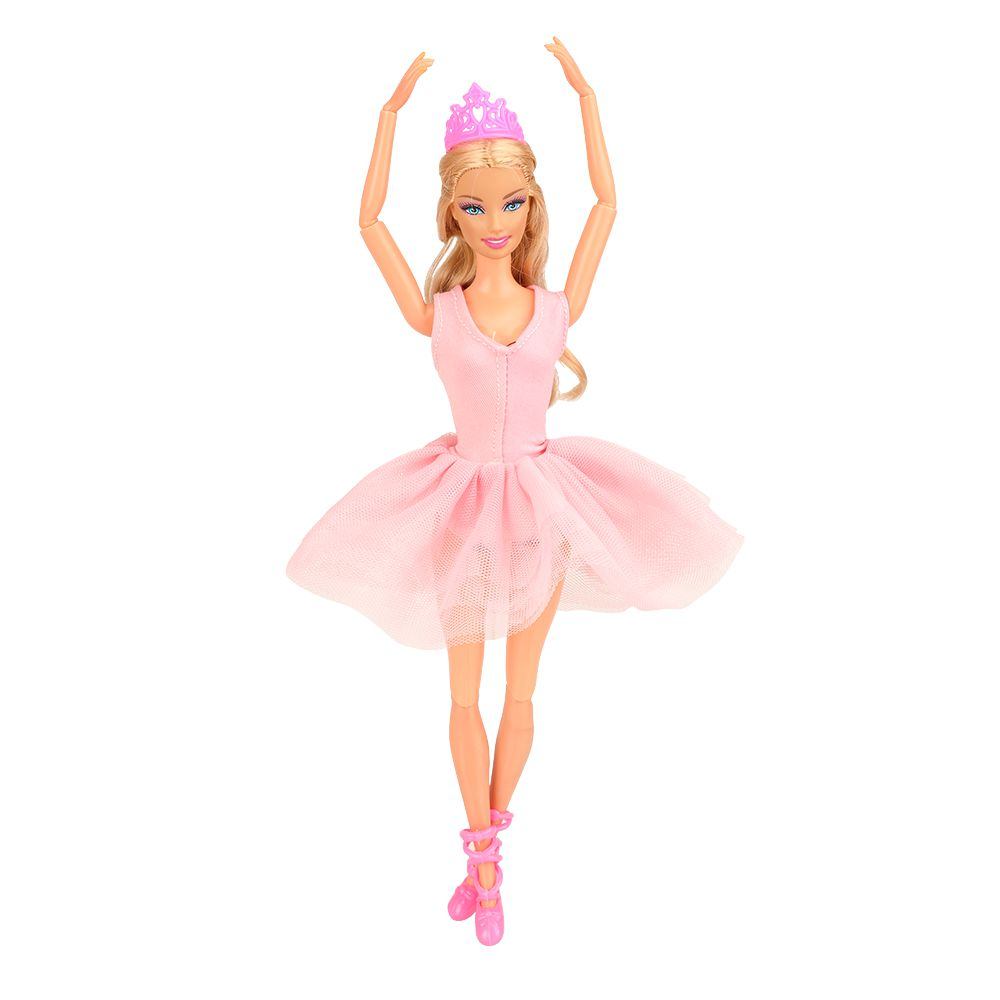 Fashion Kids Toys Doll Shoes Crown Pink White Black Tutu Skirts Ballets Dress For Barbie Dressing Best Birthday Gift For Girl