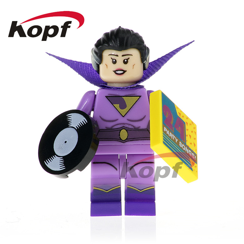 Single Sale Super Heroes Wonder Twins Zan Jayna Jor-El Batgirl Vacation Batman Joker Building Blocks Children Toys Gift PG414 building blocks super heroes back to the future doc brown and marty mcfly with skateboard wolverine toys for children gift kf197