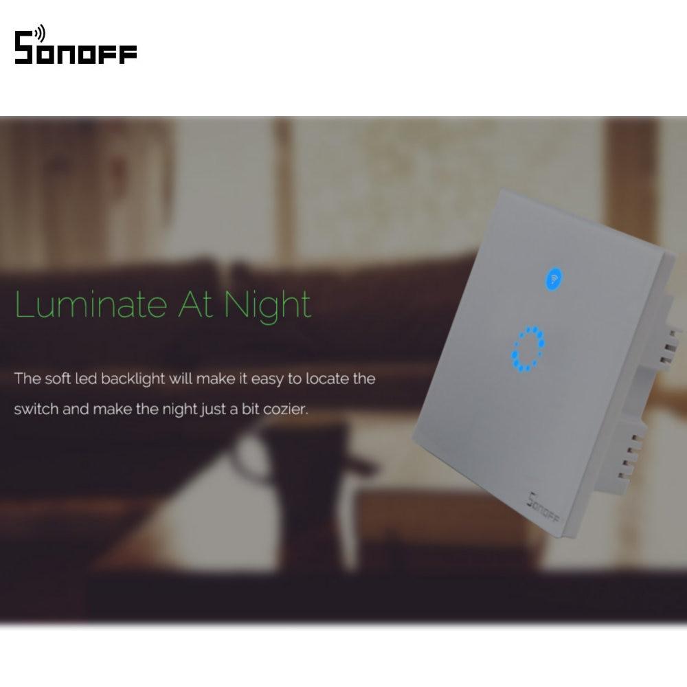 Sonoff T1 EU/UK Smart WiFi RF/APP/Touch Control Wand Lichtschalter 1 ...