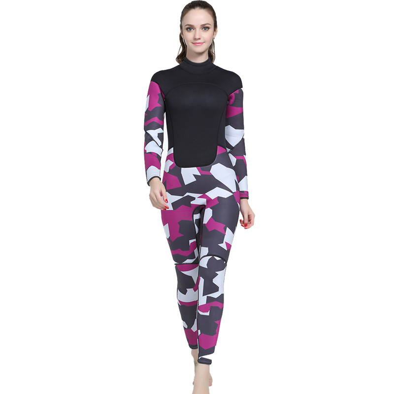 3MM Neoprene Wetsuit Women Swimsuit Equipment For Diving Scuba Swimming Surfing Spearfishing One-piece Diving Suit women wetsuit one piece front zipper print solid diving suit bright color neoprene verzy surfing suit for women m xxl quick dry