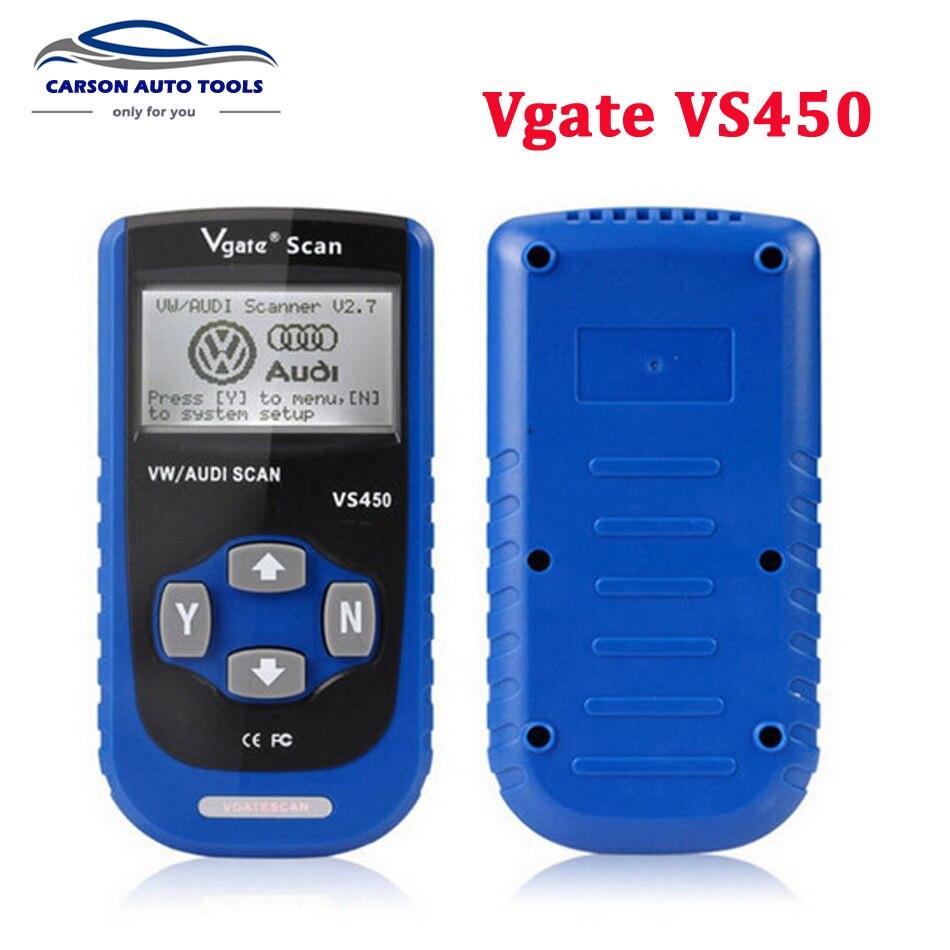 Цена за 2017 лучшие продажи автомобильной сканер Vgate VS450 для VW автомобиль Audi сканер ABS SRS Код ошибки чтения сканер для VAG Средство сброса