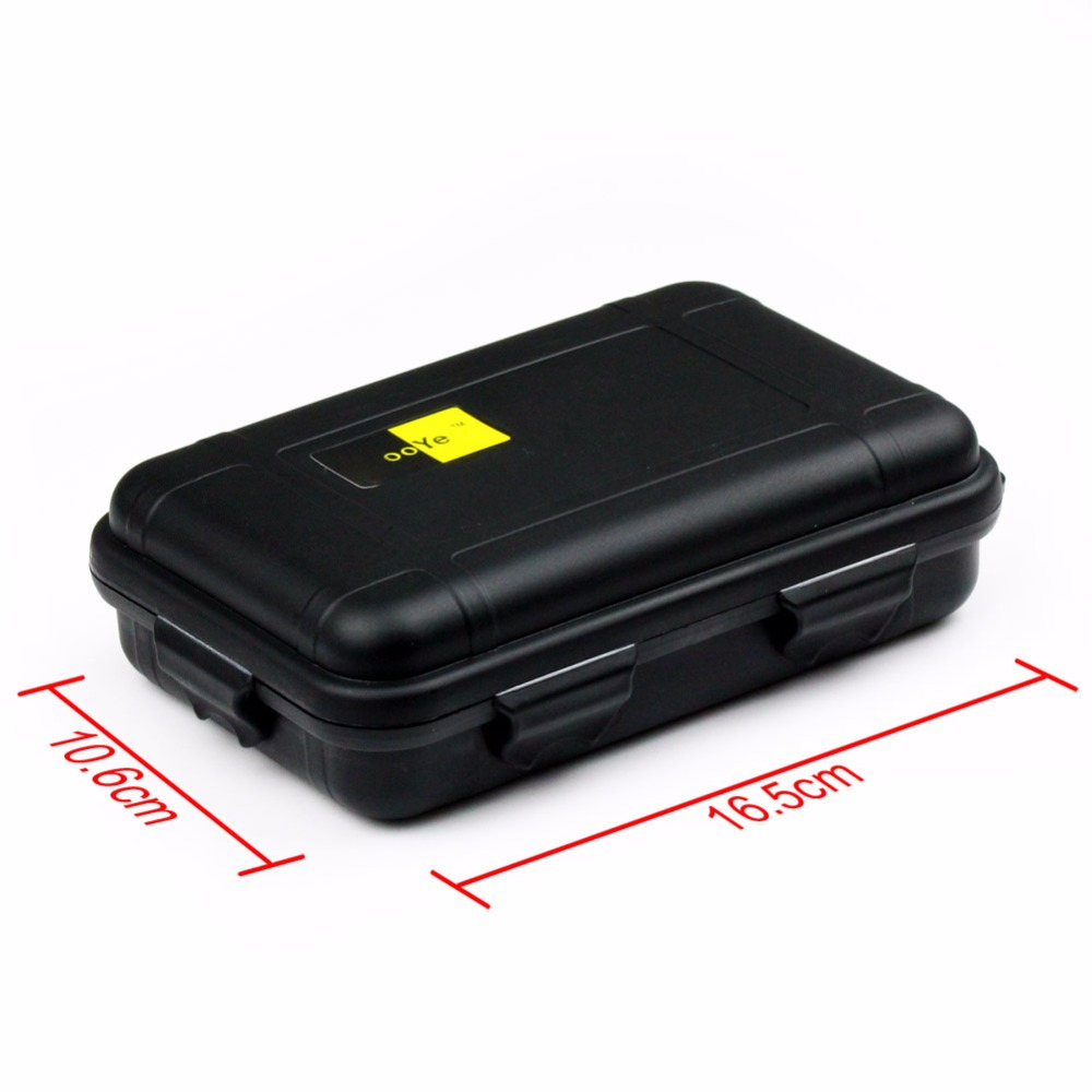 Black Plastic Waterproof Airtight Case Fly Fishing Container Storage Travel Box