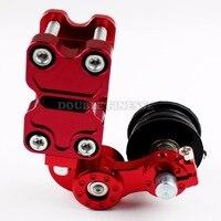 Universal Motorcycle Aluminum Rubber Chain Tensioner Motorbike ATV Chopper Bike For Kawasaki ER6F ER6N ER 6N