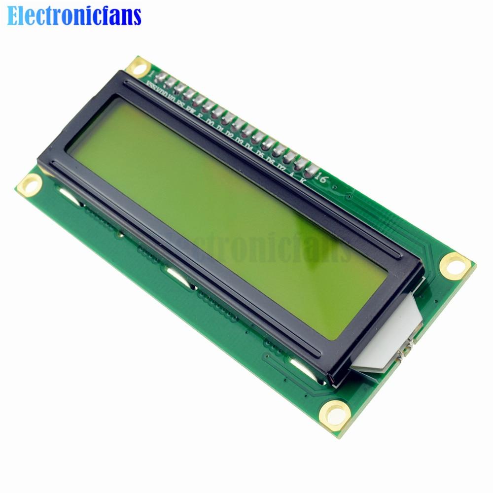 2Pcs/Lot LCD1602 1602 LCD HD44780 Screen Character LCD Display Yellow Blacklight TFT 16X2 LCD Module DC 5V