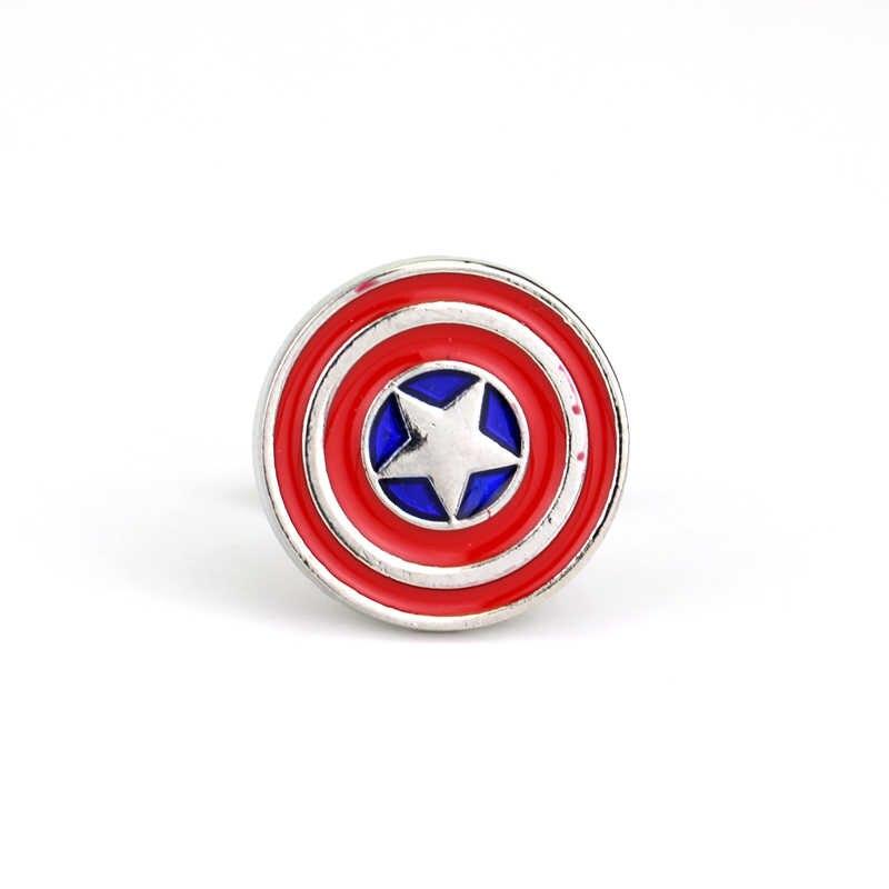 2017 высокое качество супергероя нам капитан Звезда Щит tieclips запонки Интимные аксессуары запонки для Для мужчин рубашка Jewelry Рождественский подарок