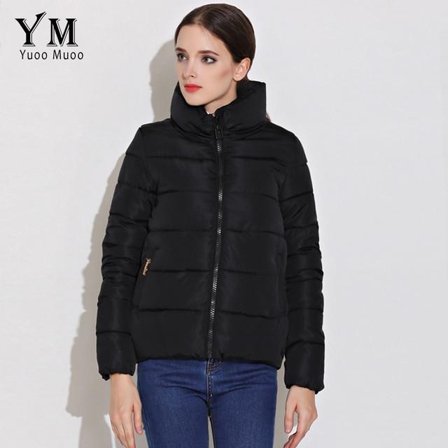 Gewatteerde Winterjas.Yuoomuoo Nieuwe Collectie Vrouwen Jas Katoen Gewatteerde Winterjas