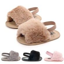 2018 Summer New Baby Sandals Fashion Plush Soft Sole Infant Shoes Flat Heel Elastic Band Boy Girl Wholesale