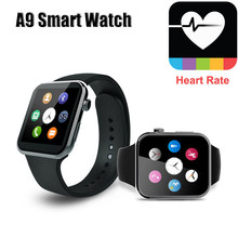 2016 NEUE Bluetooth Smart Uhr A9 Pulsmesser A9 Smartwatch für Apple iPhone & Samsung Android-Handy