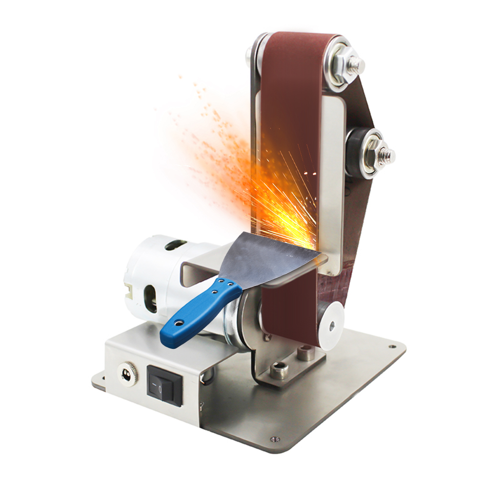 DIY Electric Mini Belt Sander Fixed-angle Sharpener Table Cutting Edge Machine Angle Grinder To Belt Sander Wood Metal Working