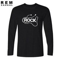 Rock and roll t shirt uomo stile custom design Radiohead camicie uomo t-shirt da uomo musica rock t-shirt manica Lunga