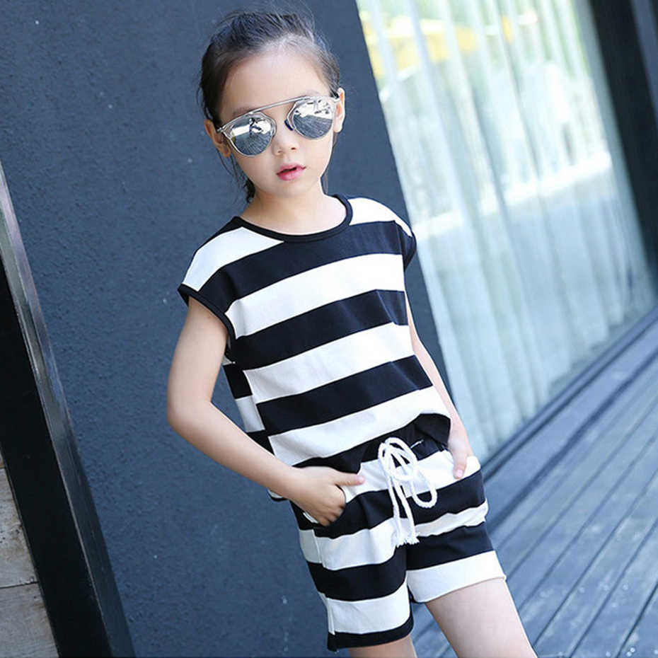 7cda8430ef62d Children's Clothing For Girls Sports Kids Clothing 2019 Girls Suit  Top+Shorts 2 Pcs Summer Clothes For Teen Girls 6 8 12 Years